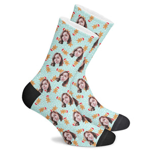 Custom Gingerbread Socks - Make Face Socks