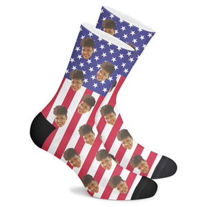 Custom Patriot Socks - Make Face Socks