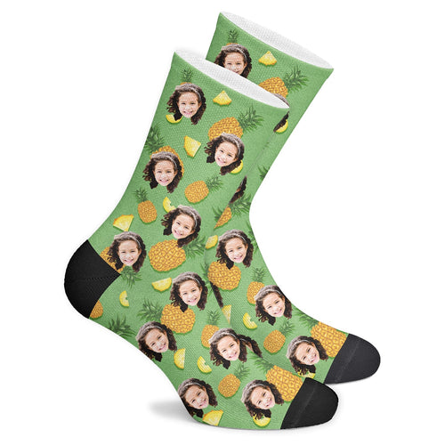 Custom Pineapple Socks - Make Face Socks