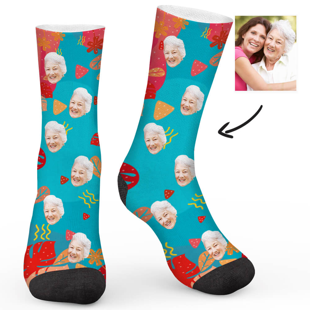 Ocean World Custom Socks - Make Face Socks