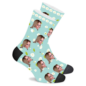 Custom Jasmine Flower Socks - Make Face Socks