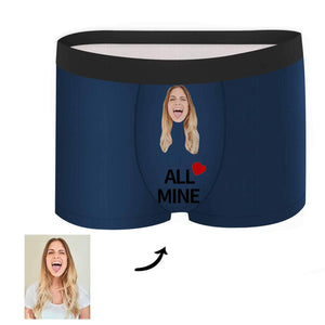 Custom Face Boxer - All Mine - Make Face Socks