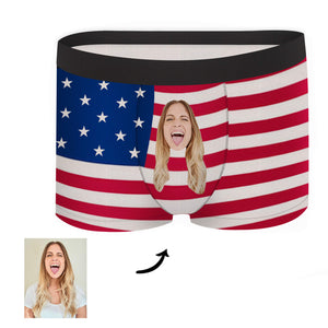 Custom Face Boxer - Flag - Make Face Socks