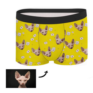 Custom Face Boxer - Love You Love Letter - Make Face Socks