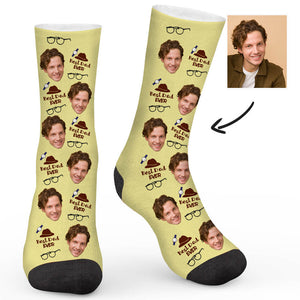 Best Dad Ever Custom Socks - Make Face Socks