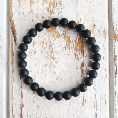 6mm Matte Black Onyx Bracelet - Joy Street