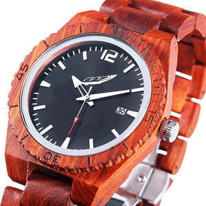 Men's Personalised Engrave Rose Wood Watch - Joy Street