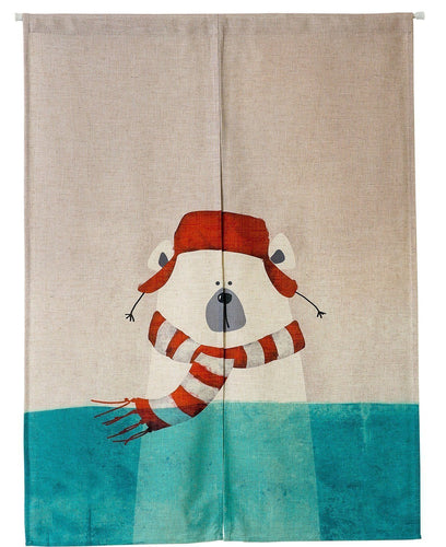 Japanese Noren Doorway Curtain Tapestry - Bear - Joy Street