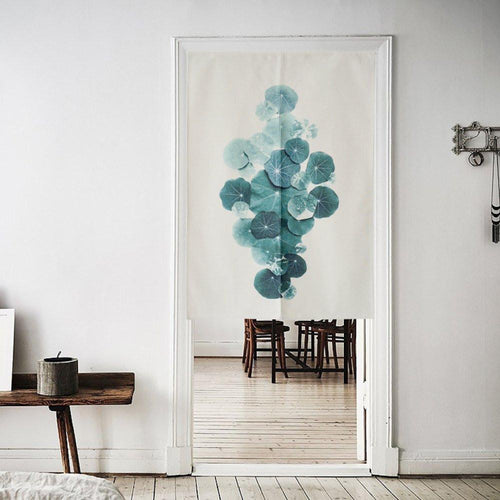 Japanese Noren Doorway Curtain Tapestry - Leaves - Joy Street