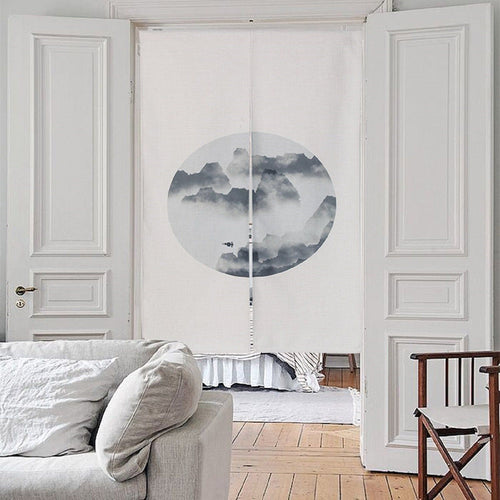 Japanese Noren Doorway Curtain Tapestry - Mountain - Joy Street