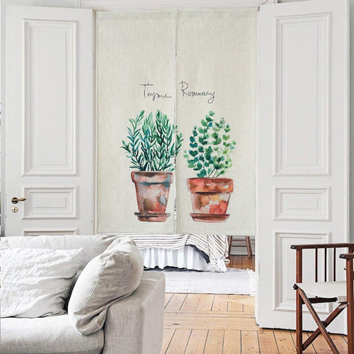 Japanese Noren Doorway Curtain Tapestry - Planters - Joy Street