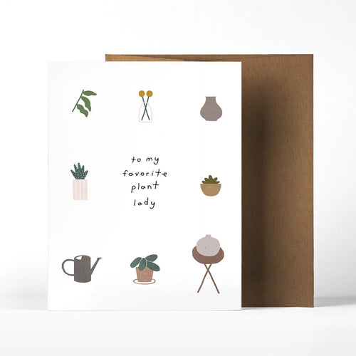 To My Favorite Plant Lady Greeting Card - Joy Street