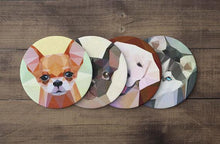 Load image into Gallery viewer, Polygonal Dog Coaster Set - Joy Street
