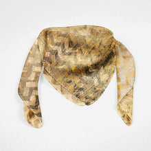 Load image into Gallery viewer, Black Gold Silk Scarf - Joy Street