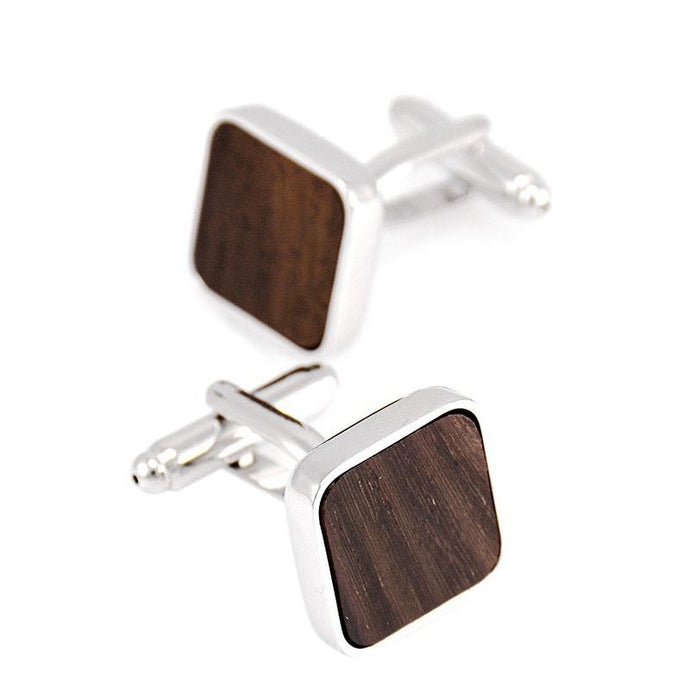 Wood Inlaid Cufflinks - Joy Street