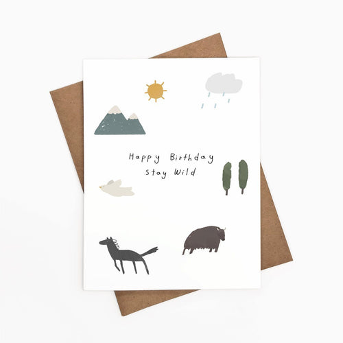 Happy Birthday Stay Wild Art Card - Joy Street