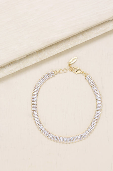 Rhinestone Confidence 18k Gold Plated Anklet - Joy Street