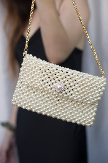 Pearl Simplicity Bag with Heart Closure - Joy Street