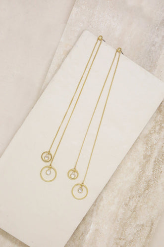 Crystal in Gold Circle Earrings - Joy Street