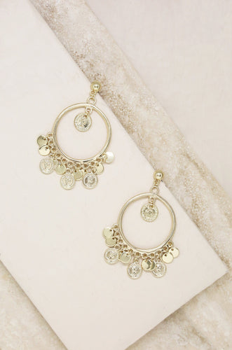 Boho Coin Earrings in Gold - Joy Street