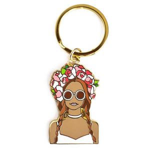 Flower Crown Beach Girl Keychain - Joy Street