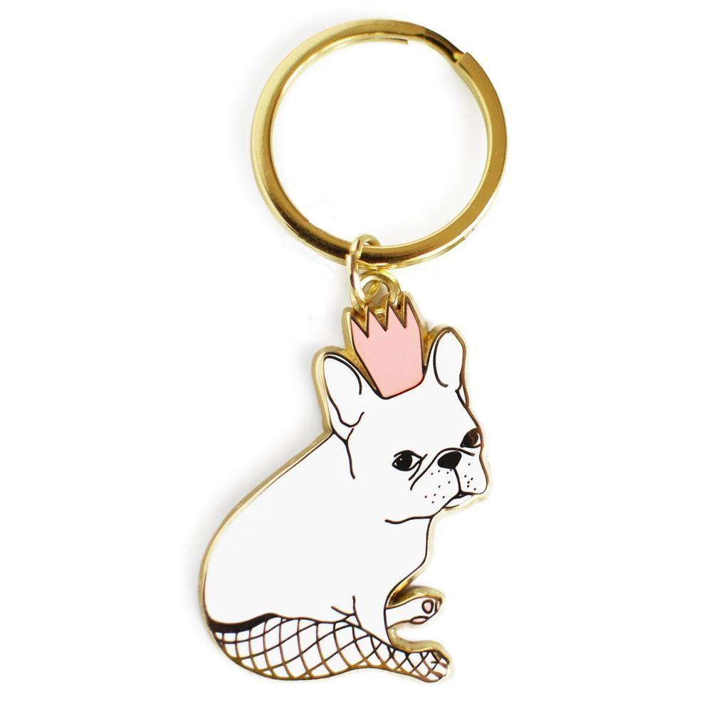 French Bulldog Fishnet Tights Keychain - Joy Street