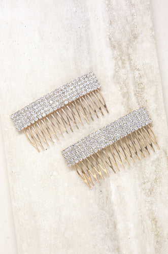 Hair Comb Set in Crystal - Joy Street