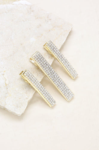 Champagne Bling Crystal Clip Set - Joy Street