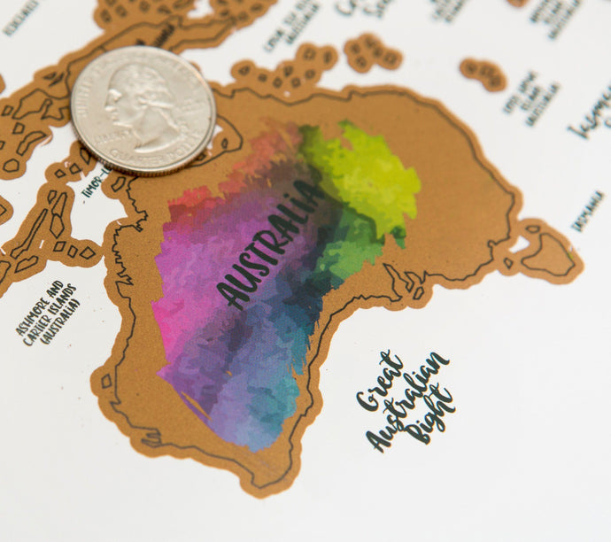 Scratch Your Travels® - It's A Beautiful World Map - Joy Street