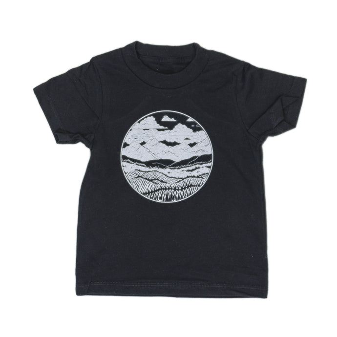 Kids Mountain Range Tee-Black - Joy Street
