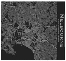 Load image into Gallery viewer, Melbourne Engraved Map Tumbler - Matte Black - Joy Street