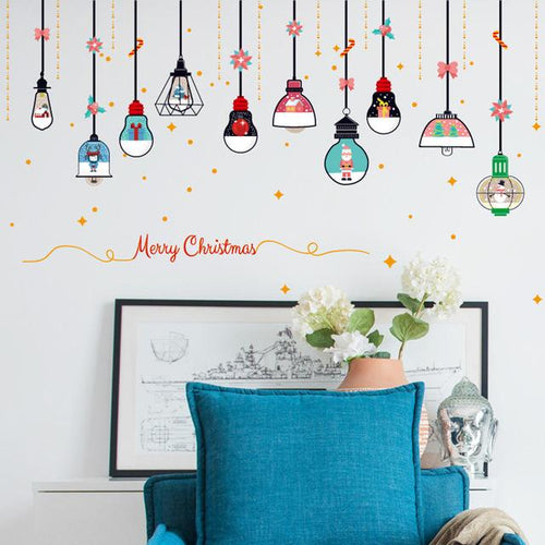 Merry Christmas Festive Wall Stickers - Joy Street