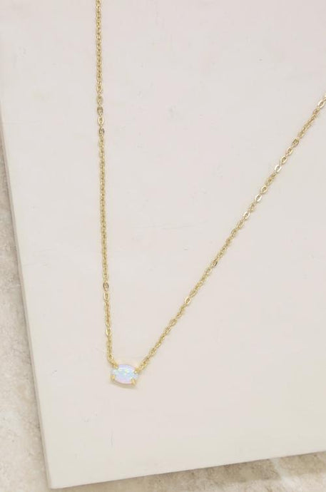 Zoe Opal 18ct Gold Plated Necklace - Joy Street