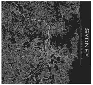 Sydney Engraved Map Tumbler - Matte Black - Joy Street