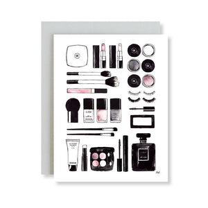 Beauty Items Illustration Card - Joy Street