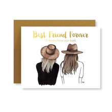 Load image into Gallery viewer, Bestie Card with Gold Foil - Joy Street