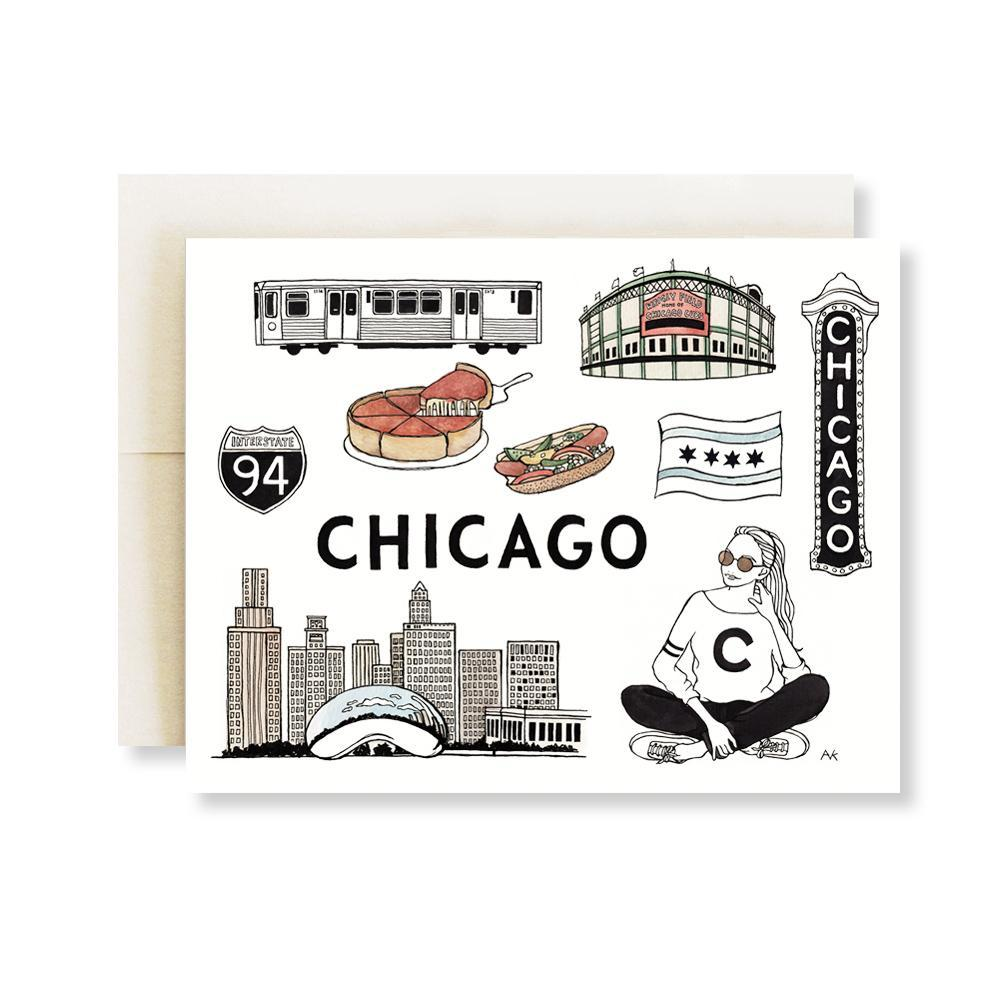Chicago Illustration Art Card - Joy Street