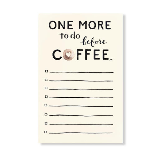 Coffee To Do Illustration Fun Notepad - Joy Street