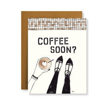 Load image into Gallery viewer, Coffee Soon Greeting Card - Joy Street