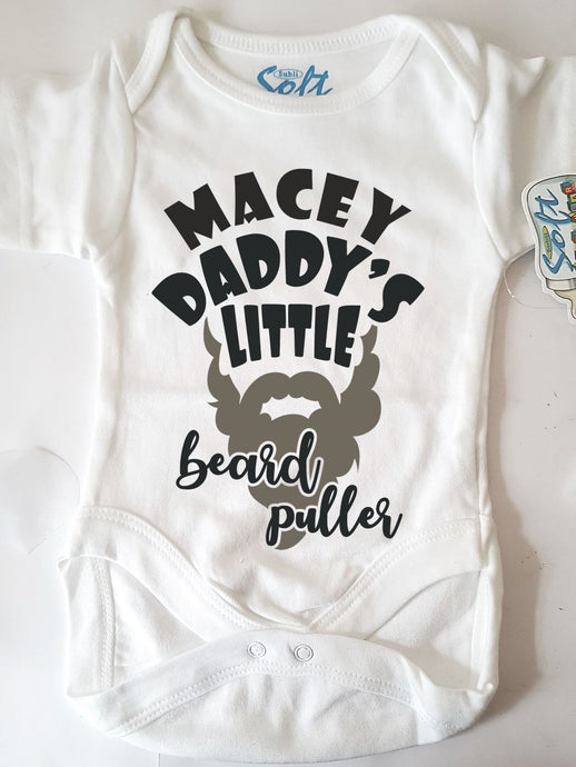Personalised Daddy Beard Puller Baby Onesie - Joy Street