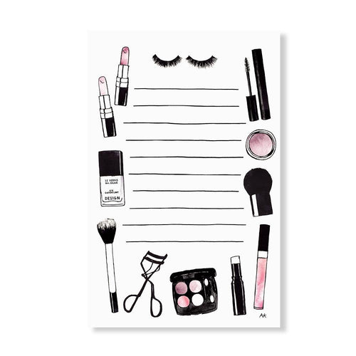 Beauty Makeup Illustration Notepad - Joy Street