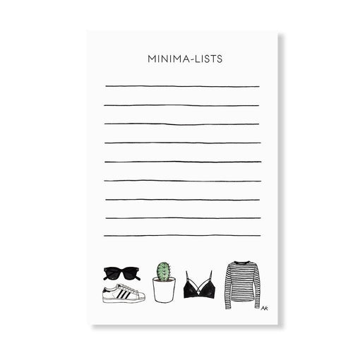 Minima-List Notepad - Joy Street