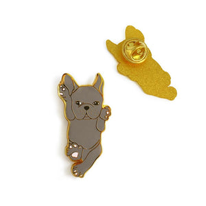 Blue French Bulldog Enamel Pin - Joy Street