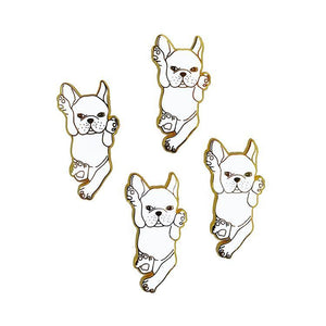 White French Bulldog Enamel Pin - Joy Street