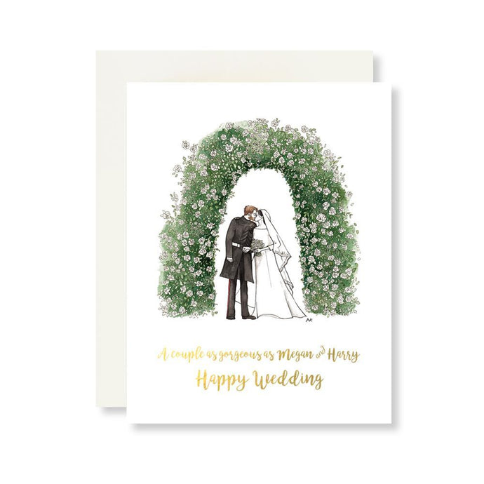 Megan & Harry Wedding Card w. Gold Foil - Joy Street