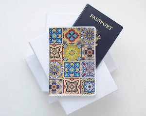 Tile Art Passport Holder - Joy Street