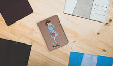 Load image into Gallery viewer, HedgeGirl Leather Passport Cover - Joy Street