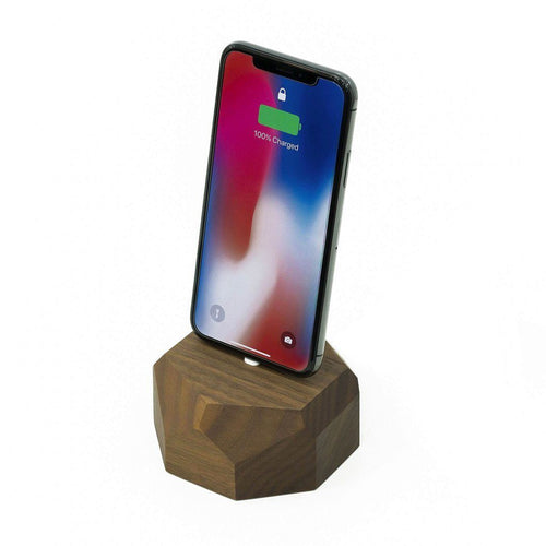 Handcrafted iPhone Single Wooden Dock with Free Charging Cord - Joy Street
