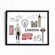 Load image into Gallery viewer, London Illustration Art Print - Joy Street