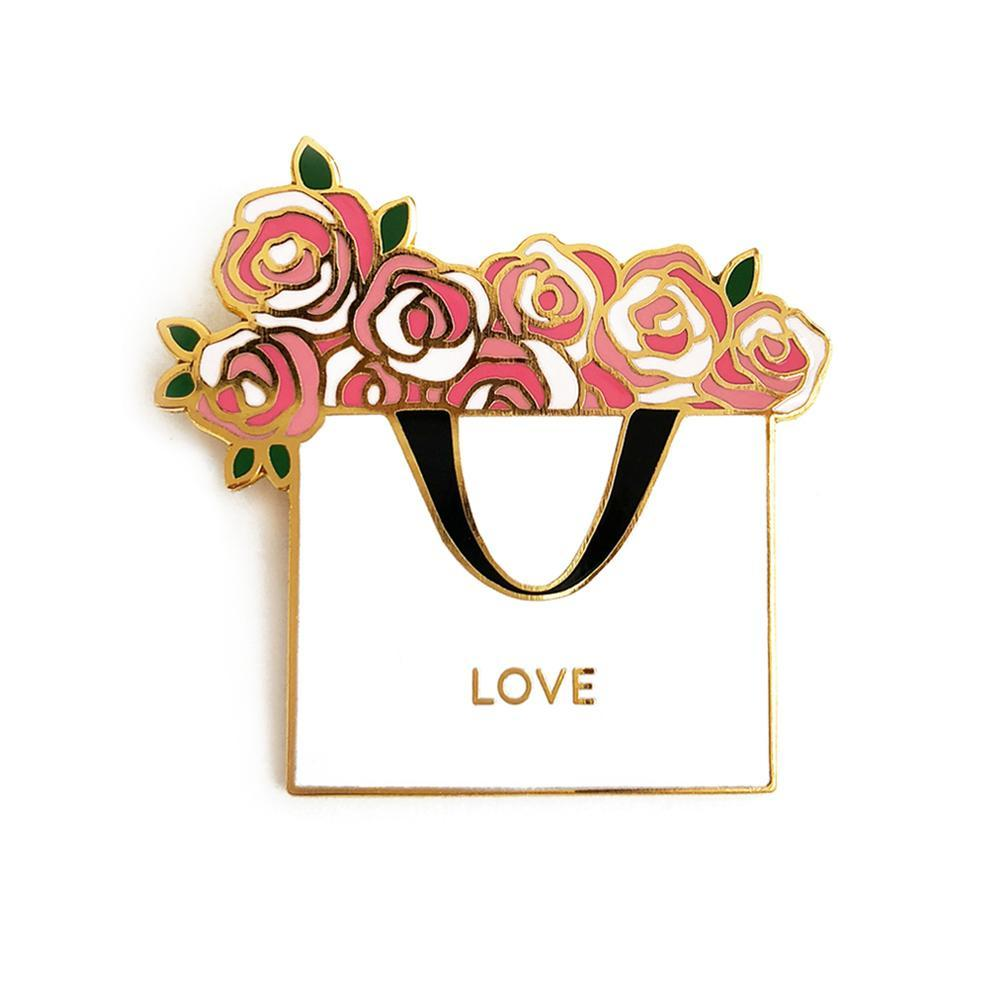 Love Flower Bag Enamel Pin - Joy Street
